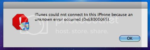 iPhone iTunes Error